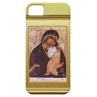 聖母マリアおよびイエス・キリストのIkon iPhone SE/5/5s ケース