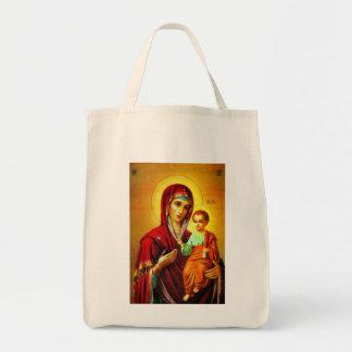 聖母マリアおよびイエス・キリスト トートバッグ