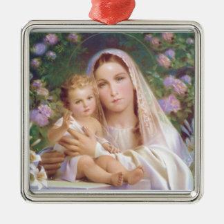 聖母マリアおよびベビーのイエス・キリストのクリスマスのオーナメント メタルオーナメント