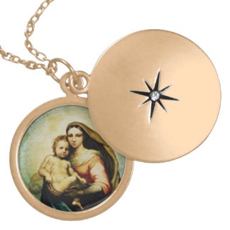 聖母マリアおよび子供のイエス・キリストのロケット ロケットネックレス