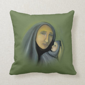 聖母マリアおよび赤ん坊のイエス・キリストの宗教クリスマス クッション