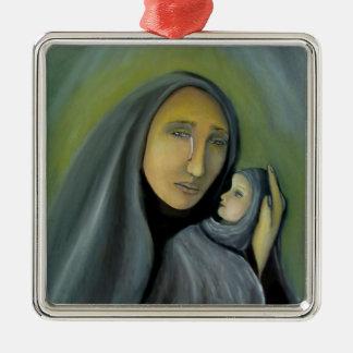聖母マリアおよび赤ん坊のイエス・キリストの宗教クリスマス メタルオーナメント