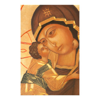 聖母マリアおよび赤ん坊イエス・キリストの正統アイコン 便箋