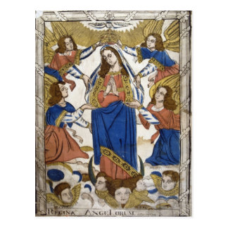 聖母マリアの仮定を描写することを描写します ポストカード