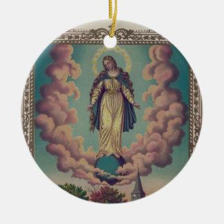 聖母マリアの仮定 セラミックオーナメント