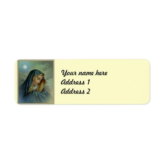 聖母マリアの仮定 返信用宛名ラベル