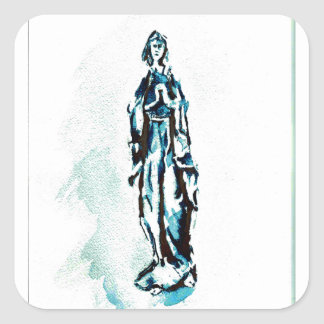 聖母マリアの永続的なグラフィック スクエアシール