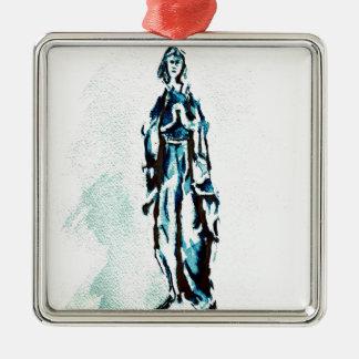 聖母マリアの永続的なグラフィック メタルオーナメント