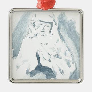 聖母マリアの祈ること メタルオーナメント