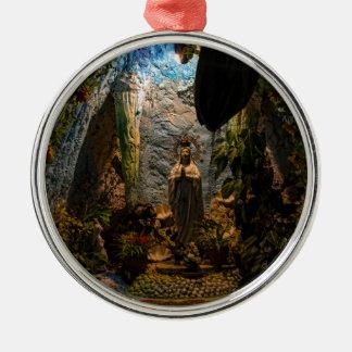 聖母マリアの神聖な小洞窟 メタルオーナメント