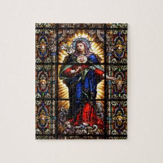 聖母マリアの美しい宗教神聖なハート ジグゾーパズル