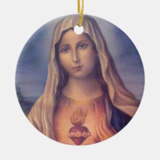 聖母マリアの美しい宗教神聖なハート セラミックオーナメント