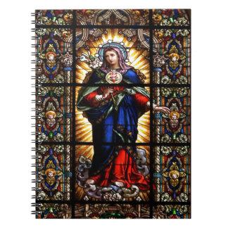 聖母マリアの美しい宗教神聖なハート ノートブック