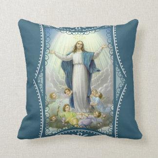 聖母マリアの賛美された天使の仮定 クッション