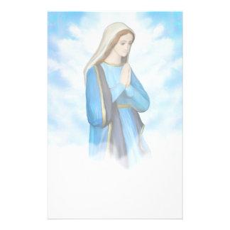 聖母マリアの賛美された文房具 便箋