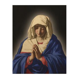 聖母マリアの賛美された神聖なイメージ ウッドウォールアート