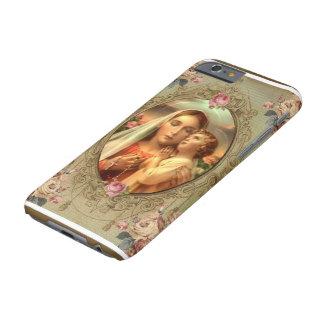 聖母マリアマドンナの子供のイエス・キリストの数珠のバラ BARELY THERE iPhone 6 ケース