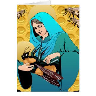 聖母マリアマドンナ及びのまわりに カード