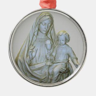 聖母マリア1匹のオーナメント メタルオーナメント
