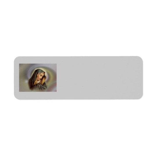 聖母マリア2 Averyのラベル 返信用宛名ラベル