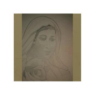 聖母マリア ウッドウォールアート