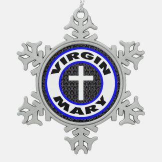 聖母マリア スノーフレークピューターオーナメント