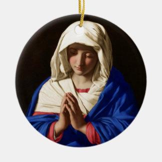 聖母マリア セラミックオーナメント