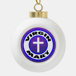 聖母マリア セラミックボールオーナメント