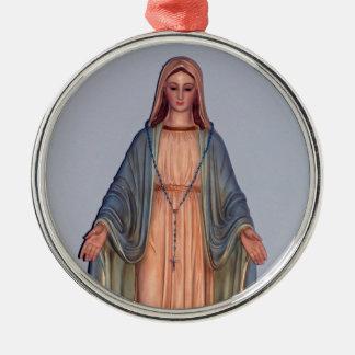 聖母マリア メタルオーナメント
