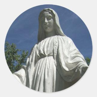 聖母マリア ラウンドシール