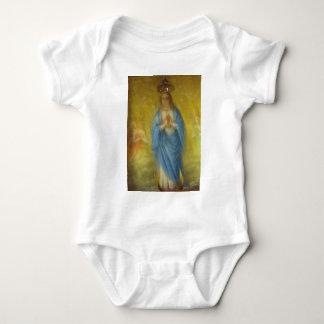 聖母マリア-   中世期間 ベビーボディスーツ