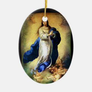 聖母マリア- Murilloの処女懐胎 セラミックオーナメント
