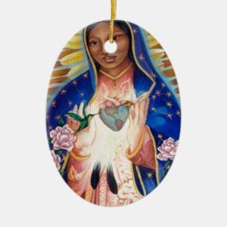 聖母マリア- Ofグアダルペ私達の女性 セラミックオーナメント