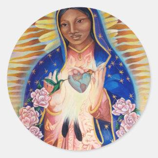 聖母マリア- Ofグアダルペ私達の女性 ラウンドシール