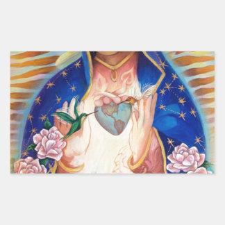 聖母マリア- Ofグアダルペ私達の女性 長方形シール