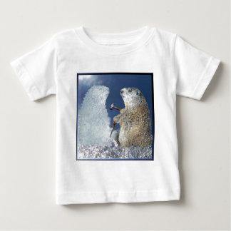 聖燭節の氷像 ベビーTシャツ