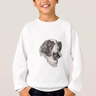 聖者のサンベルナール峠犬のプロフィールのポートレートのスケッチ スウェットシャツ