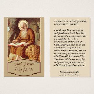 聖者のジェロームの聖なる書物、経典のペンの修道士 名刺