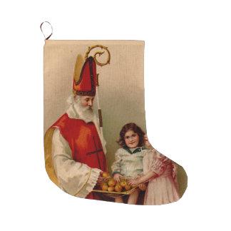 聖者のニコラスのクリスマスのストッキング ラージクリスマスストッキング