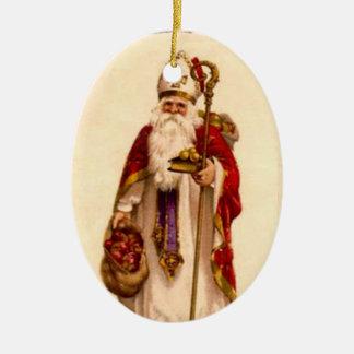 聖者のニコラスのクリスマスツリーのオーナメント セラミックオーナメント