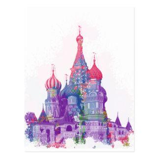 聖者のベズルのカテドラルモスクワ ポストカード