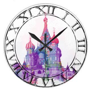 聖者のベズルのカテドラルモスクワ ラージ壁時計