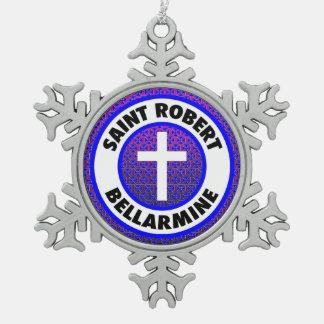 聖者のロバートのBellarmine スノーフレークピューターオーナメント