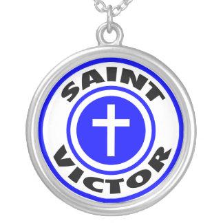 聖者の勝利者 シルバープレートネックレス