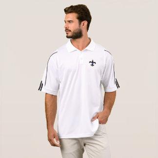 聖者の法の執行の薄いブルーラインアディダスのゴルフ ポロシャツ