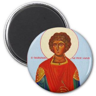 聖者のPanteleimon正統アイコン磁石 マグネット