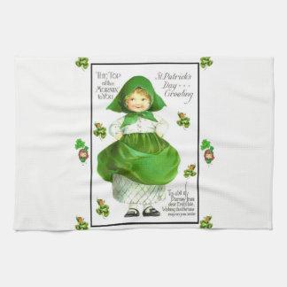 聖者のpatricksの緑の台所手タオル キッチンタオル