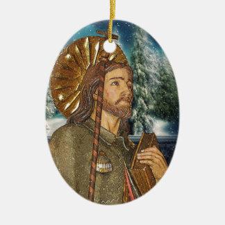 聖者のRoccoの楕円形の祈りの言葉 セラミックオーナメント
