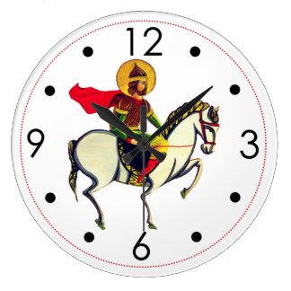 聖者のSarkisのՍուրբՍարգիսの円形の柱時計 ラージ壁時計