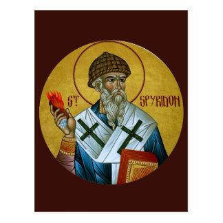 聖者のSpyridonの祈りの言葉カード ポストカード